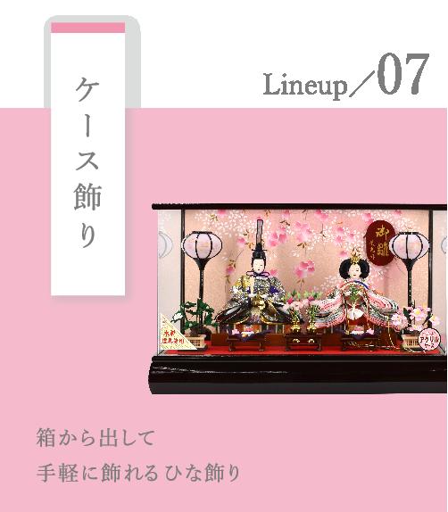 写真:ひな人形 Lineup/07 ケース飾り 箱から出して手軽に飾れるひな飾り